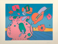 Fine Art - Work on Paper:Print, Peter Max (American, b. 1937). Marilyn's Flowers, 1979.Lithograph in colors. 19 x 24-3/8 inches (48.3 x 61.9 cm) (image...