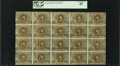 Fractional Currency:Second Issue, Fr. 1244 10¢ Second Issue Complete Sheet of 20 PCGS Extremely Fine 45.. ...