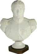 Ceramics & Porcelain, Continental:Other , A Large Sevres-Style Porcelain Bust of Napoleon, circa 1900. Marks: M. Imple de Sevres. 26 h x 19 w x 10 d inches (66.0 ...