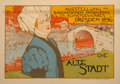 Fine Art - Work on Paper:Print, Otto Fischer (1870-1947). Die Alt Stadt (from Les Maîtres de L'Affiche), pl. 68. Lithograph in colors. 7-3/4 x 11-3/4 in...