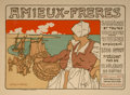 Fine Art - Work on Paper:Print, Georges Fay (19th Century). Amieux-Freres (from Les Maîtres de L'Affiche), pl. 183. Lithograph in colors. 8 x 11-1/4 inc...