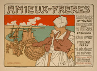 Georges Fay (19th Century) Amieux-Freres (from Les Maîtres de L'Affiche), pl. 183 Lithograph in colors 8 x 11-1/4...
