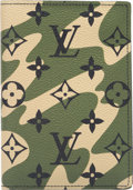 """Luxury Accessories:Accessories, Louis Vuitton Limited Edition Green Monogramouflage Canvas Wallet.Excellent to Pristine Condition. 4"""" Width x 5.5"""" Height..."""