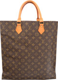 "Luxury Accessories:Bags, Louis Vuitton Classic Monogram Canvas Sac Plat GM Bag. Very Good Condition. 14.5"" Width x 15"" Height x 3.5"" Depth. ..."