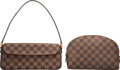 "Luxury Accessories:Bags, Louis Vuitton Set of Two; Damier Ebene Canvas Bags. ExcellentCondition. 10"" Width x 4.5"" Height x 3"" Depth. 9"" Width x 6""...(Total: 2 )"