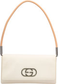 "Luxury Accessories:Bags, Gucci White Canvas Shoulder Bag. Very Good Condition. 9""Width x 5"" Height x 1"" Depth. ..."