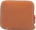 """Luxury Accessories:Bags, Hermes Fauve Barenia Leather Silk'In Wallet with Palladium Hardware. R Square, 2014. Excellent Condition. 4"""" Width..."""