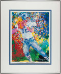 Autographs:Others, Roger Staubach and LeRoy Neiman Signed Lithograph. ...