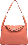 """Luxury Accessories:Bags, Hermes 31cm Rose Tea Swift Leather Lindy Bag with PalladiumHardware. L Square, 2008. Excellent Condition. 12""""Wid..."""