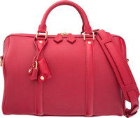 "Louis Vuitton Cherry Red Leather Sofia Coppola Speedy 30 Bag Excellent Condition 12"" Width x 8"" H"