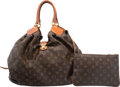 Luxury Accessories:Bags, Louis Vuitton Limited Edition Matte Brown Crocodile & Classic Monogram Canvas XL Bag. Excellent to Pristine Condition. ...