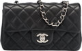 Luxury Accessories:Bags, Chanel Black Quilted Lambskin Leather Mini Flap Bag