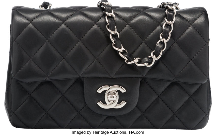 Excellentto Pristine  Luxury Accessories Bags, Chanel Black Quilted  Lambskin Leather Mini Flap Bag. 7e09790ad9