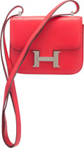 Luxury Accessories:Bags, Hermes 15cm Geranium Swift Leather Micro Mini Constance Bag withPalladium Hardware. M Square, 2009. Very Good toExce...