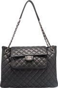 "Luxury Accessories:Bags, Chanel Black Quilted Caviar Leather Tote Bag. ExcellentCondition. 15"" Width x 11"" Height x 4"" Depth. ..."