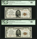National Bank Notes:West Virginia, South Charleston, WV - $5 1929 Ty. 2 The First NB of SouthCharleston Ch. # 11340, Four Consecutive Examples.. ... (Total: 4notes)