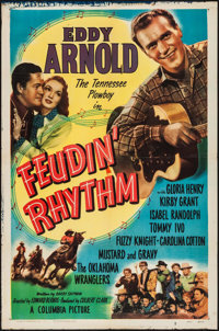 "Feudin' Rhythm (Columbia, 1949). One Sheet (27"" X 41"") & Three Sheet (41"" X 79""). Western. ... (..."