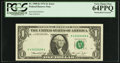 Fr. 1908-K $1 1974 Federal Reserve Note. PCGS Very Choice New 64PPQ