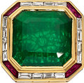 Estate Jewelry:Rings, Emerald, Diamond, Ruby, Gold Ring. ...