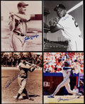Autographs:Photos, Baseball Greats Signed Photograph Collection (8)....