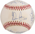 Autographs:Baseballs, 300 Wins Clubs Multi-Signed Baseball (9 Signatures) - With Inscriptions. ...