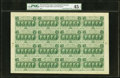 Fractional Currency:First Issue, Fr. 1312 50¢ First Issue Complete Sheet of 16. PMG Choice ExtremelyFine 45 EPQ.. ...