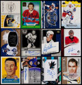 Autographs:Baseballs, Extensive Hockey Collection of Autographed Cards (71).