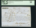 Confederate Notes:Group Lots, Interim Depositary Receipt Winnsboro, (SC) - $400 June 23, 1862Tremmel SC-148. ...