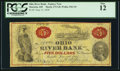 Obsoletes By State:Ohio, Marietta, OH - Ohio River Bank - Fantasy Note $5 June 15, 1838Wolka 1561-01. ...