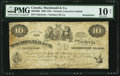 Canadian Currency, Victoria, VI- Macdonald & Co. $10 Sept. 6, 1863 Ch. # 420-10-06 Remainder.. ...