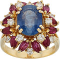 Estate Jewelry:Rings, Sapphire, Diamond, Ruby, Gold Ring . ...