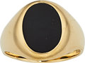 Estate Jewelry:Rings, Gentleman's Black Onyx, Gold Ring, Tiffany & Co. . ...
