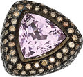 Estate Jewelry:Rings, Kunzite, Colored Diamond, Gold Ring. ...