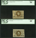 Fractional Currency:Second Issue, Fr. 1283 25¢ Second Issue PCGS Extremely Fine 40;. Fr. 1284 25¢ Second Issue PCGS About New 50.. ... (Total: 2 notes)