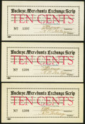 Obsoletes By State:Arizona, Buckeye, AZ- Buckeye Merchants Exchange Scrip 10¢ ND (1933) ShaferAZ151-.10 Three Consecutive Examples. ... (Total: 3 notes)