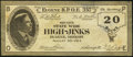 Obsoletes By State:Oregon, Eugene, OR- Eugene B.P.O.E 357 Second State Wide High-Jinks $20 Aug. 30, 1914. ...