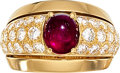 Estate Jewelry:Rings, Ruby, Diamond, Gold Ring, Cartier, French. ...