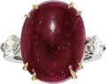 Estate Jewelry:Rings, Burma Ruby, Diamond, Platinum, Gold Ring, David Webb . ...