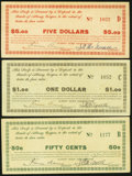 Obsoletes By State:Oregon, Albany, OR- Albany Scrip Association 50¢; $1; $5 ND (1933)OR61-.50a; 1a; 5a. ... (Total: 3 notes)