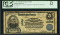 National Bank Notes:Ohio, Cleveland, OH - $5 1902 Plain Back Fr. 607 Brotherhood of Locomotive Engineers Co-Operative NB Ch. # 11862. ...