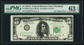 Error Notes:Ink Smears, Ink Smear Error Fr. 1968-D $5 1963A Federal Reserve Note. PMGChoice Uncirculated 63 EPQ.. ...