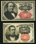Fractional Currency:Fifth Issue, Fr. 1265 10¢ Fifth Issue Choice New;. Fr. 1309 25¢ Fifth IssueChoice About New.. ... (Total: 2 notes)