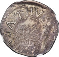 Colonials, 1652 SHILNG Oak Tree Shilling, IN at Bottom, AU50 NGC. Noe-5, W-470, Salmon 3-D, R.2. ...