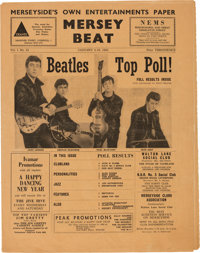 Beatles - A Copy of Mersey Beat Vol. 1, No. 13 (UK, 1962). One of Only Three Copies Known to