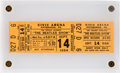 Music Memorabilia:Tickets, Beatles Civic Arena Concert Ticket Slabbed in Acrylic (1964)....