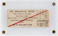 Music Memorabilia:Tickets, Beatles Ticket for Their Second Appearance on The Ed SullivanShow (1964)....
