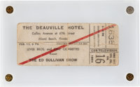 Beatles Ticket for Their Second Appearance on The Ed Sullivan Show (1964)