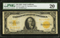 Large Size:Gold Certificates, Fr. 1173* $10 1922 Gold Certificate PMG Very Fine 20.. ...