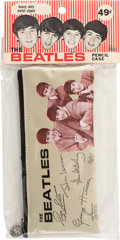 Music Memorabilia:Memorabilia, Beatles Vintage Pencil Case in Original Package (1964)....