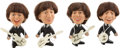 Music Memorabilia:Toys, Beatles - Set of Four Vintage Remco Promo Dolls with WhiteInstruments (US, 1964)....